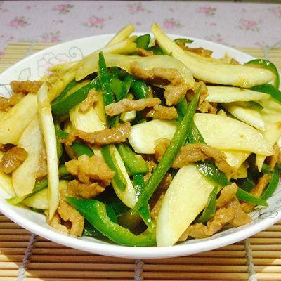江南三大名菜之一--茭白青椒炒肉