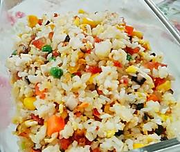 腊肠/菌菇蛋炒饭的做法