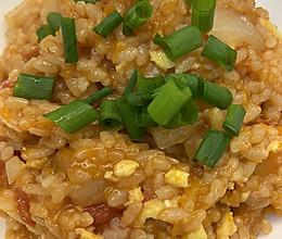 洋葱南瓜西红柿鸡蛋炒米饭的做法