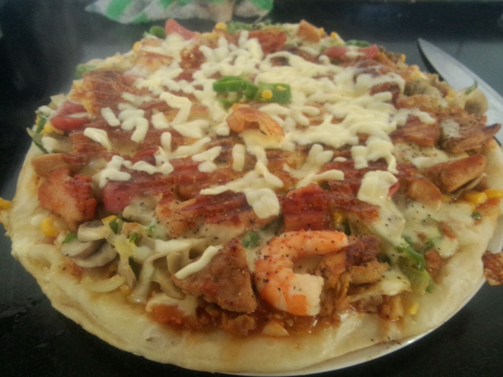 电饼铛或平底锅版披萨的做法图解6