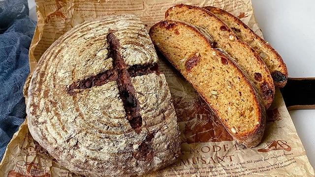 免揉谷粒面包的做法