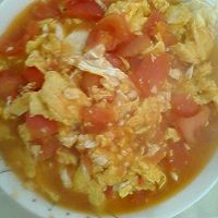 柿子炒鸡蛋的做法图解5