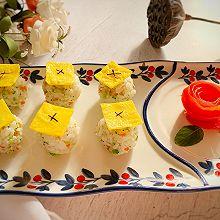 #换着花样吃早餐#早餐健康吃-蔬菜米饭团