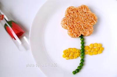 花朵焗饭(微波炉版)#胃,我养你啊#