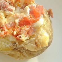 培根番茄芝士烤土豆