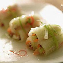 冬瓜海鲜卷