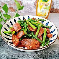 蒜苔炒腊肠#太太乐鲜鸡汁玩转健康快手菜#的做法图解12