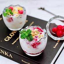 #轻饮蔓生活#自制蔓越莓冰酸奶(内附酸奶做法)