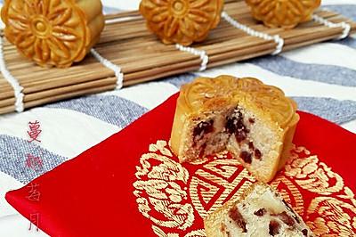 蔓越莓月饼#手作月饼#