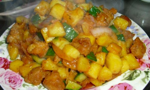 孕妇必吃,开胃菜,菠萝咕咾肉的做法