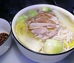 金针菇娃儿菜白菜三鲜汤的做法