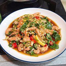 藤椒柠檬虾,10分钟搞定夏日开胃凉拌菜