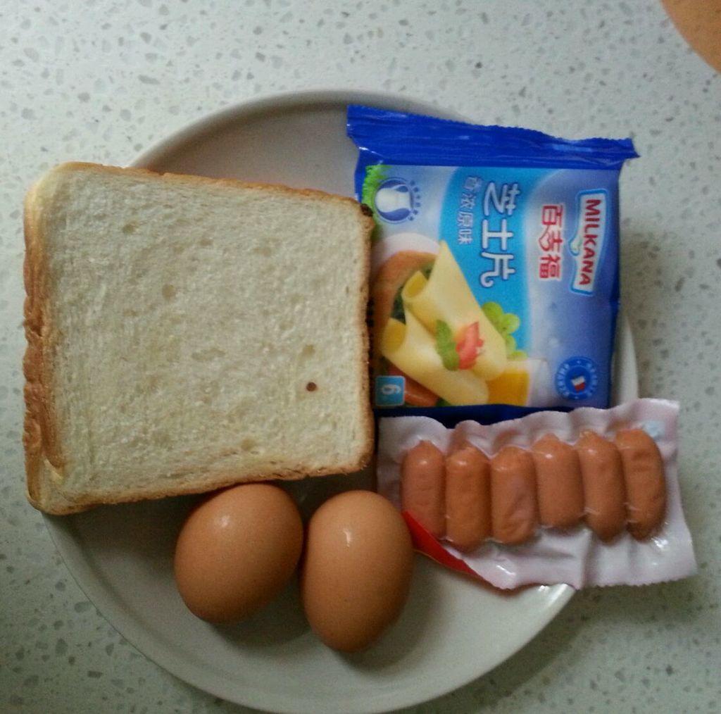 百吉福创意芝士早餐--美味西多士的做法图解1
