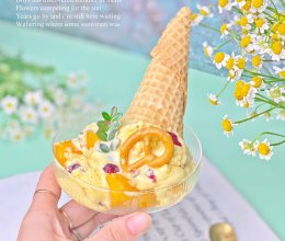 #以美食的名义说爱她#芒果蔓越莓冰淇淋的做法