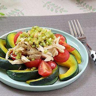 南瓜鸡肉沙拉-晚餐