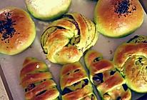 菠菜中种面包的做法
