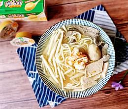 #饕餮美味视觉盛宴#鲜菇鸡汤面的做法