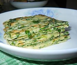 芹菜叶饼的做法