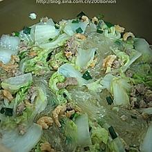 白菜肉末虾米粉丝煲