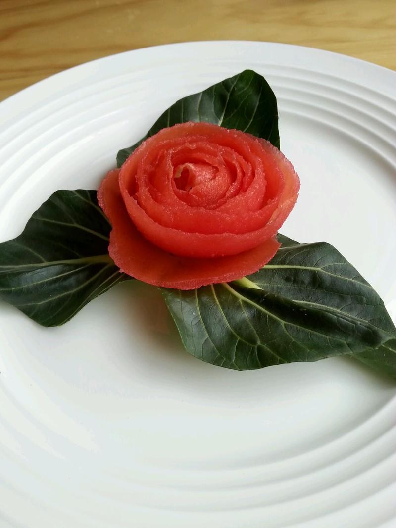 番茄玫瑰花的做法_【图解】番茄玫瑰花怎么做好吃