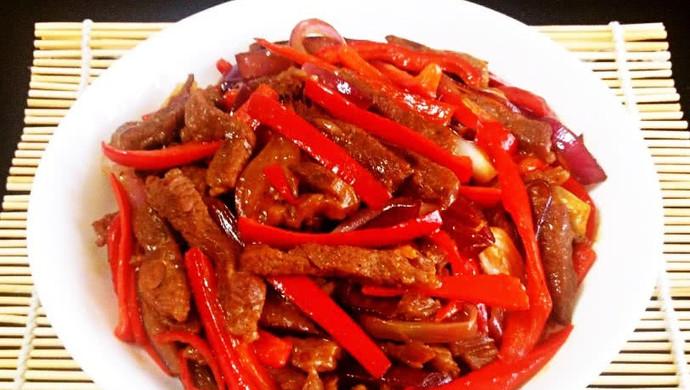 红椒牛柳——利仁电火锅试用菜谱