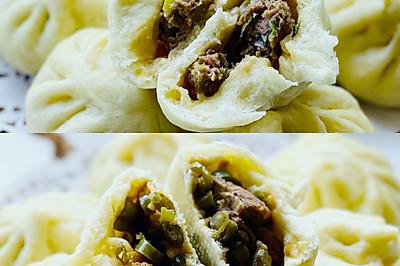 ‼️东北特色馅包子:干肠猪肉馅、豆角排骨馅