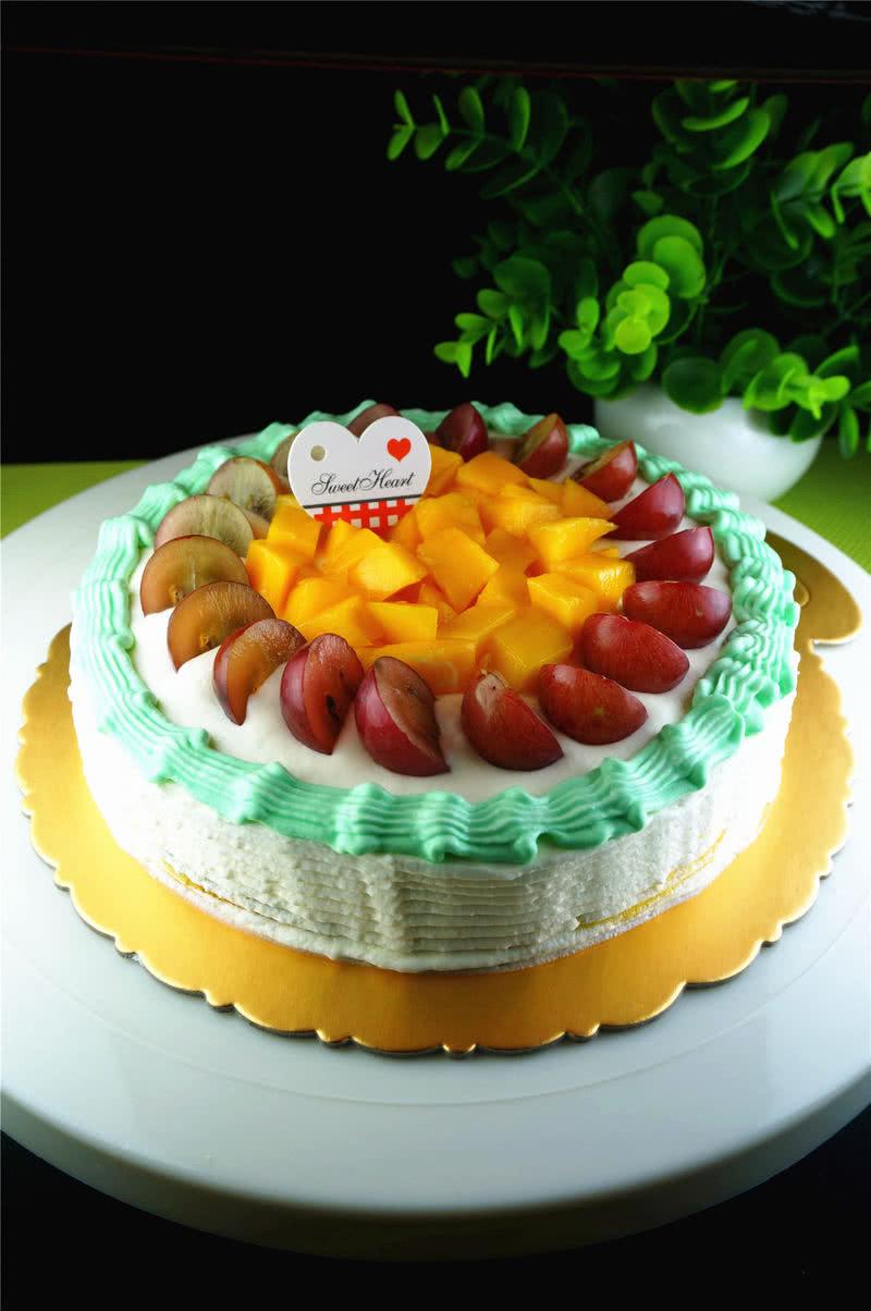 水果彩虹生日蛋糕_q猪宝宝的美食日记