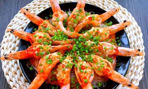 金银蒜粉丝蒸虾#寻找最聪明的蒸菜达人#的做法