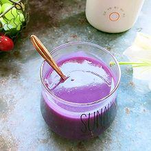 换着花样吃早餐——紫薯米糊