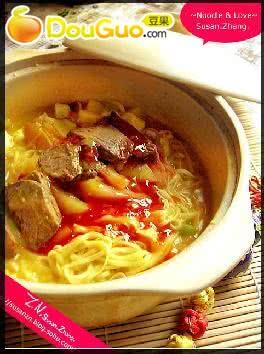 咖喱番茄牛肉面的做法