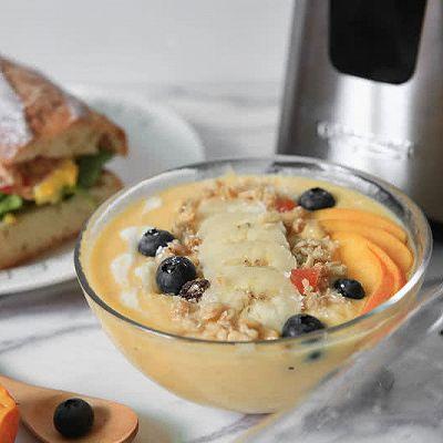 营养早餐——高颜值的芒果香蕉奶昔