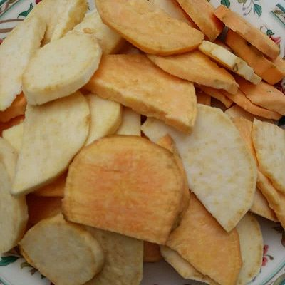 甜蜜蕃薯片的做法 步骤1
