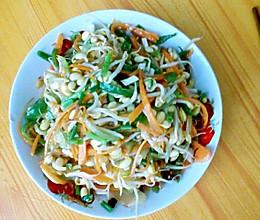 豆芽炒三丝(超级爽口又营养)的做法