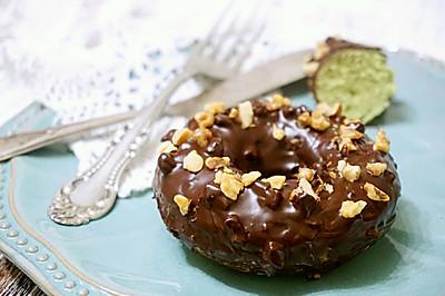 巧克力核桃抹茶蛋糕#健身修复食谱#