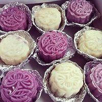 自制紫薯冰皮月饼人50g/个的做法图解7