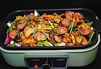 香肠干锅土豆片的做法
