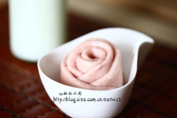 紫薯玫瑰卷的做法