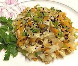 夏日素食-凉拌豆腐皮的做法