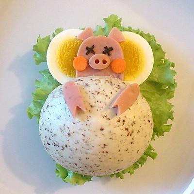 有趣又健康的早餐—分享小睡猪中式汉堡做法