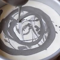 【视频】大理石纹 免烤黑芝麻慕斯蛋糕的做法图解12