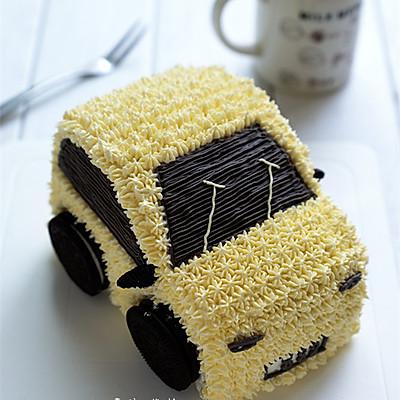 小巧玲珑的汽车蛋糕