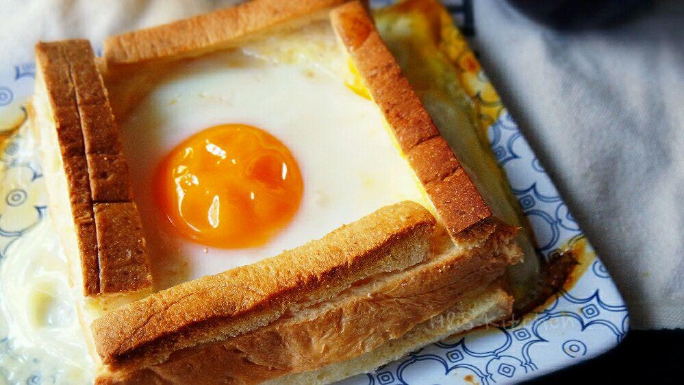 芝士吐司太阳蛋#看韩剧做早餐#的做法图解6