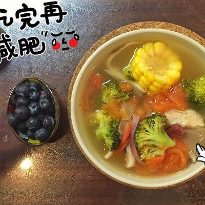 【低热量】一人餐清口蔬菜汤