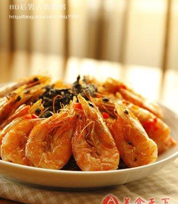 吮指茶香酥虾的做法
