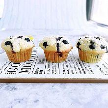 蘑菇头蓝莓麦芬蛋糕#硬核菜谱制作人#
