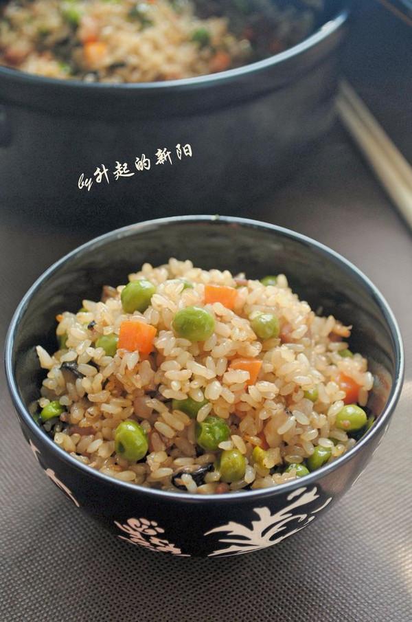 糙米豌豆煲饭的做法