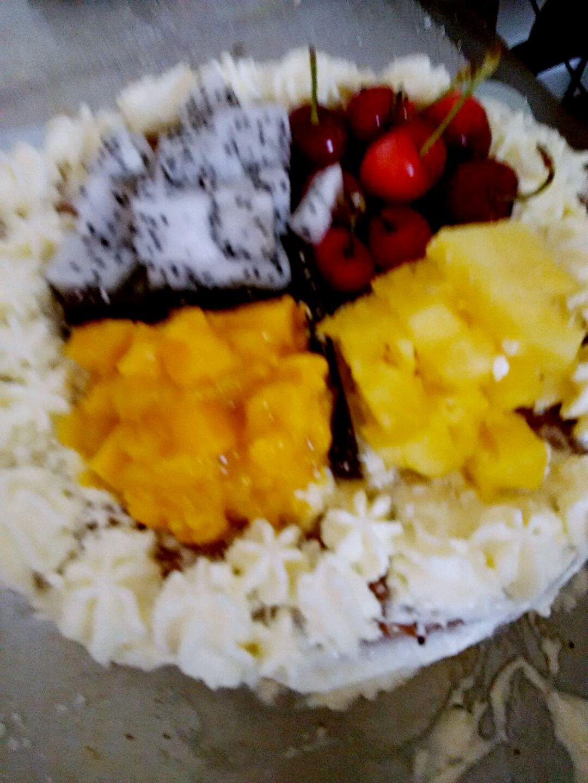 水果格子蛋糕图片