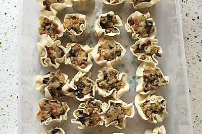 腊肉菇类烧卖