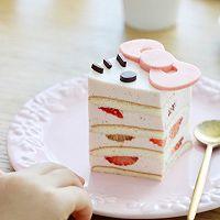 Kitty草莓慕斯蛋糕的做法图解12