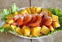 鲜虾芒果盏的做法